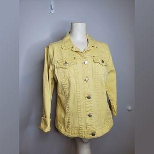 Cabi Faded Yellow Denim Jacket